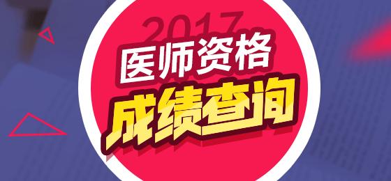 2017医师资格考试成绩查询入口