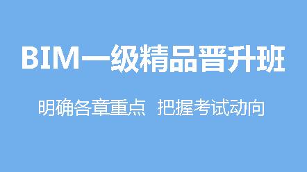 BIM一级(第十四期)-精品晋升班(14期)