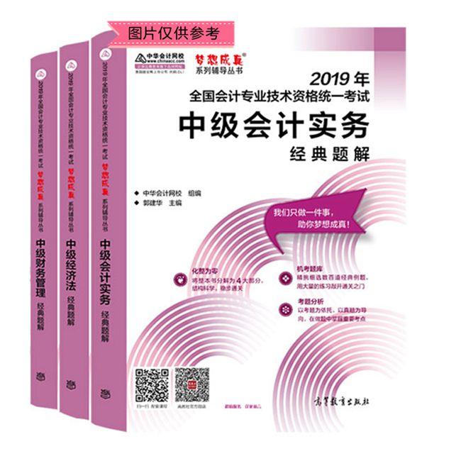 """2019年中級會計職稱三科""""夢想成真""""系列叢書經典題解(預售)"""