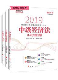 """2019年中级会计职称三科""""梦想成真""""系列丛书历年真题全解(预售)"""