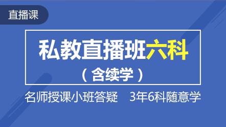 2019注會--聯報課程-私教直播班六科(三年)