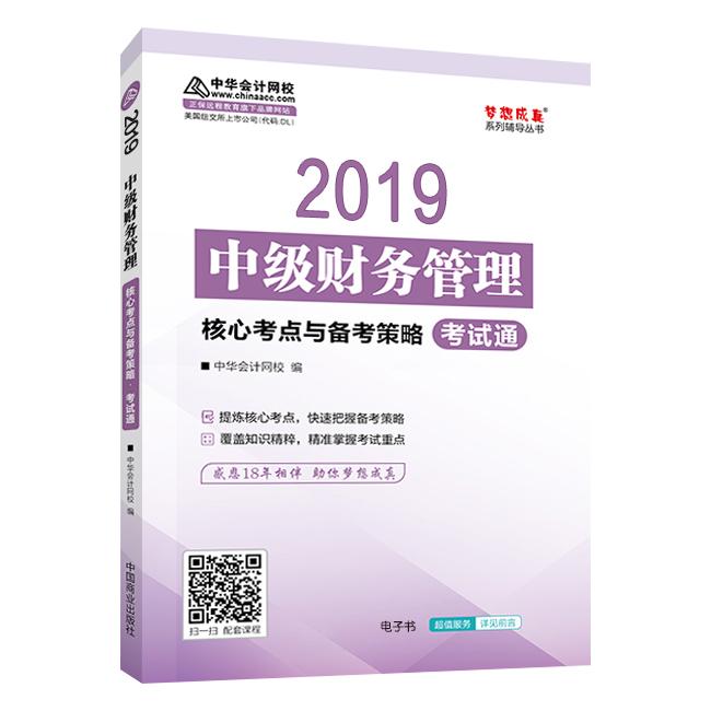 """2019年中级会计职称《财务管理》""""梦想成真""""系列丛书核心考点与备考策略电子书"""