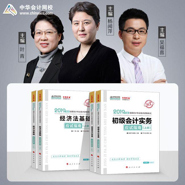 """2019年初级会计职称两科""""梦想成真""""系列丛书应试指南"""