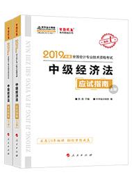 """2019年中级会计职称《经济法》""""梦想成真""""系列丛书应试指南(上下册)"""