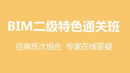 BIM二級建筑(第十五期)-特色通關班(15期)