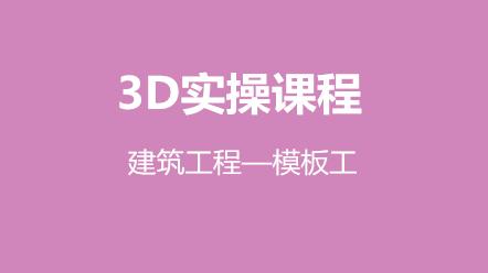 3D实操课程-建筑工程—模板工(原价240元,优惠价120元)
