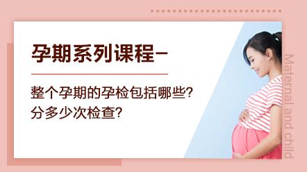 孕期系列课程-整个孕期的孕检包括哪些?分多少次检查?