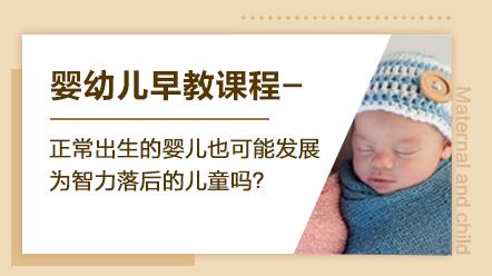 婴幼儿早教系列课程-正常出生的婴儿也可能发展为智力落后的儿童吗?