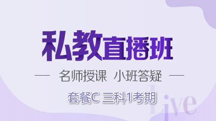 联报课程2020-[私教直播班]套餐C