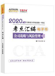 公司战略与风险管理2020-2020年注册会计师《公司战略与风险管理》考点汇编电子书