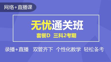 联报课程2020-[无忧通关班]套餐D