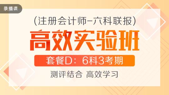 注会联报课程2020-[高效实验班]套餐D