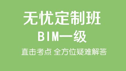BIM一级(十六期)-BIM一级(十六期)无忧定制班