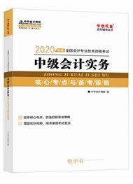 中級會計實務2020-2020年中級會計職稱《中級會計實務》核心考點與備考策略電子書