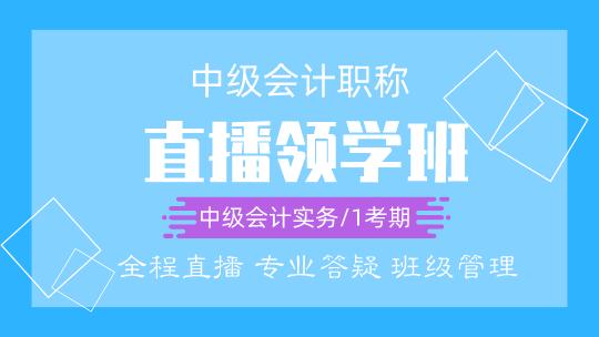 中級會計實務2020-直播領學班(4月開課)