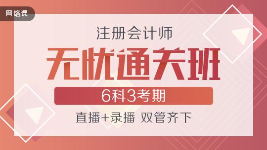 注会联报课程2020-[无忧通关班]套餐D