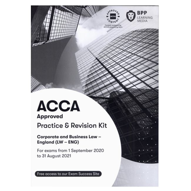 ACCA Corporate and Business Law(English)(LW)正版教材+练习册(F4)(适用至2021年8月31日)