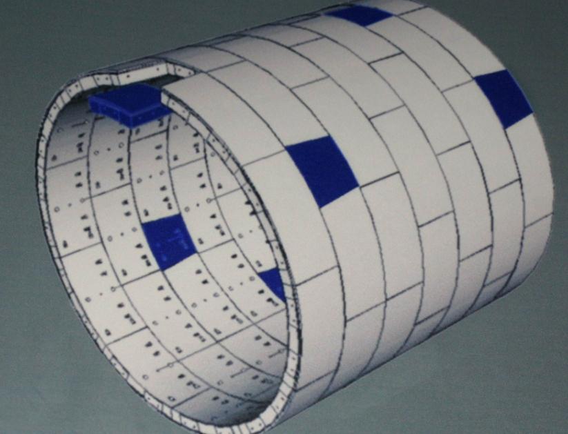 盾构隧道通用楔形管片拼装设计的关键是根据线路的平,竖曲线要素和